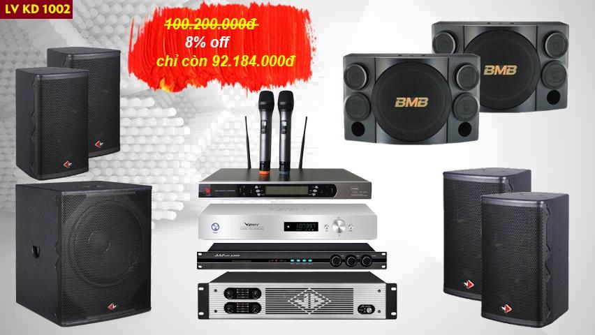 Dàn karaoke kinh doanh LV KD1002 chiết khấu còn 92 triệu
