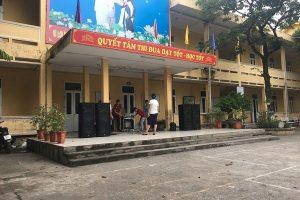 Cung cấp dàn âm thanh sân khấu cho trường tiểu học Ngũ Hiệp