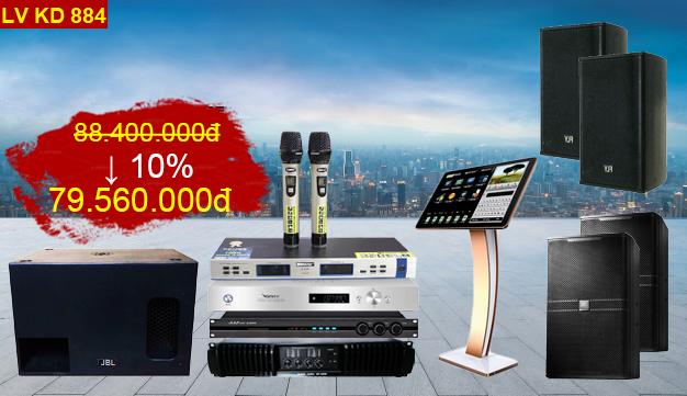 Dàn karaoke kinh doanh LV KD884 chiết khấu còn 79 triệu
