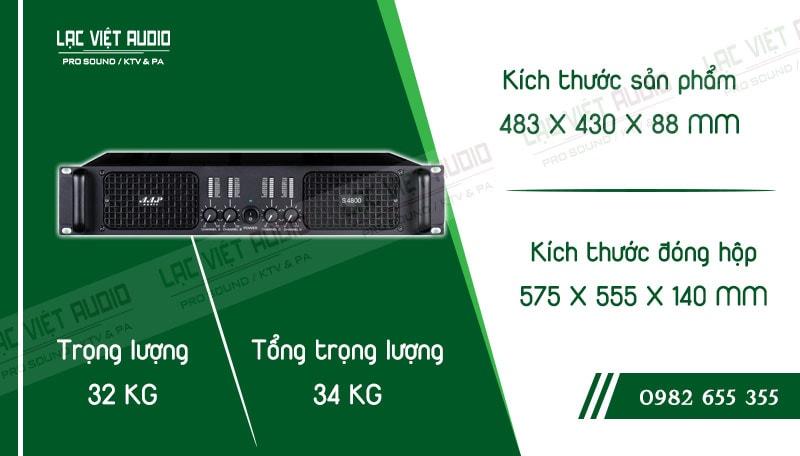 Thiết kế bên ngoài của sản phẩmCục đẩy công suất AAP S4800