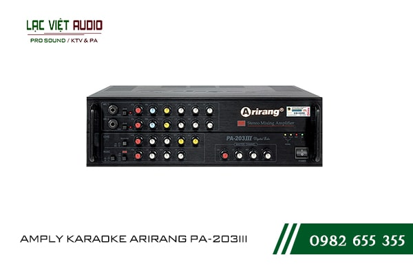Giới thiệu về sản phẩm amply karaoke arirang PA-203III