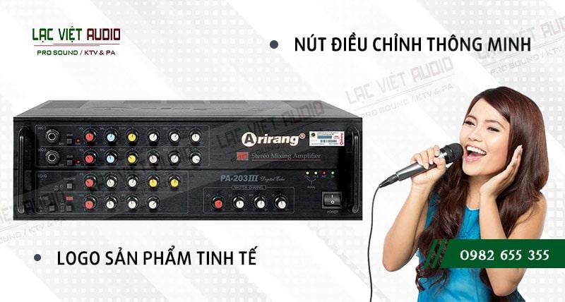Các đặc điểm nổi bật của sản phẩm amply karaoke arirang PA-203III