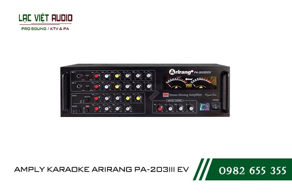 Giới thiệu về sản phẩm amply karaoke arirang PA-203III EV
