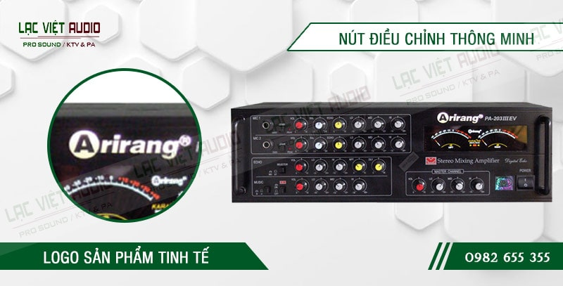Các đặc điểm nổi bật của sản phẩmamply karaoke arirang PA-203III EV