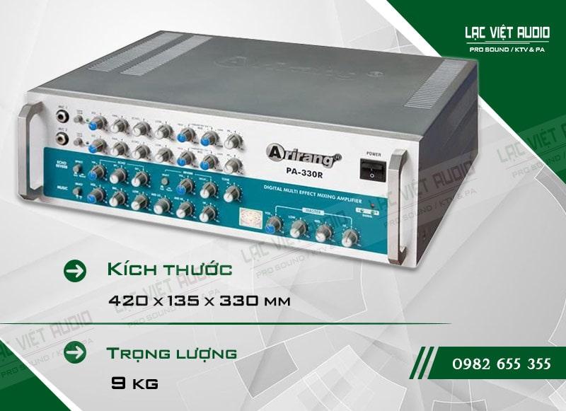 Thiết kế bên ngoài của sản phẩmamply karaoke arirang PA-330R