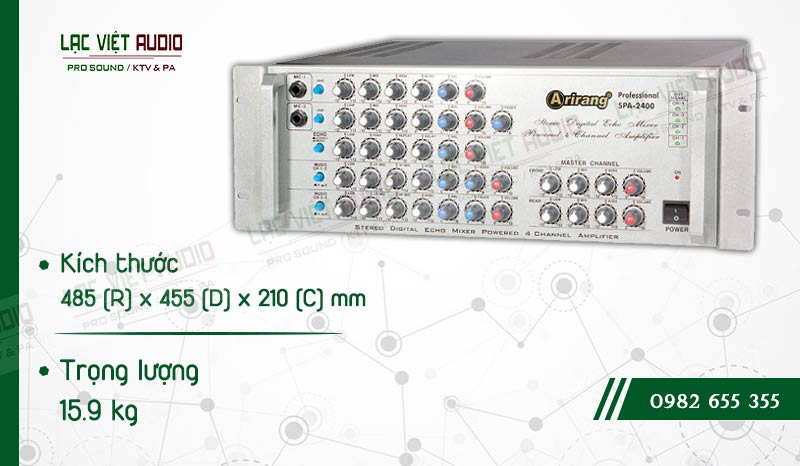 Thiết kế bên ngoài của sản phẩm AMPLY KARAOKE ARIRANG SPA-2400A
