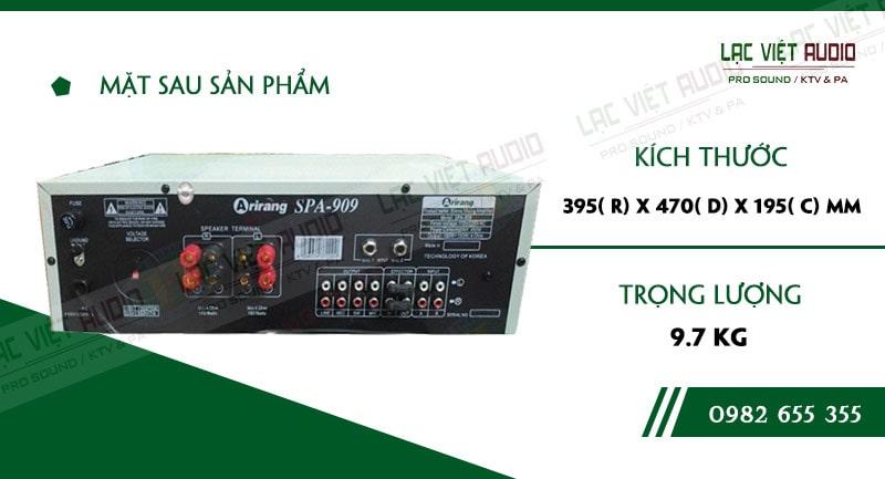 Thiết kế bên ngoài hiện đại và sang trọng củaAMPLY KARAOKE ARIRANG SPA-909