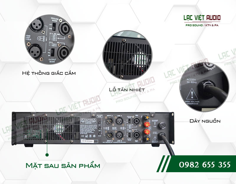 Thiết kế bên ngoài cực hiện đại của thiết bị Cục đẩy công suất Agasound HD 600