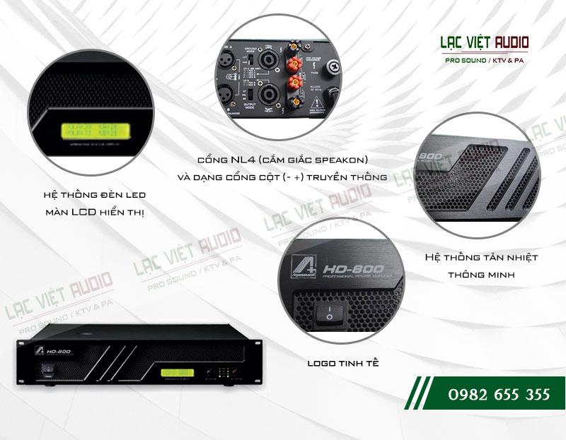 Thiết kế bên ngoài của sản phẩm Cục đẩy Agasound HD 800