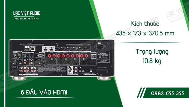Thông số kỹ thuật của sản phẩmAmpli đa kênh Pioneer VSX LX303
