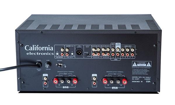 Amply karaoke California Pro 968B-II mặt sau