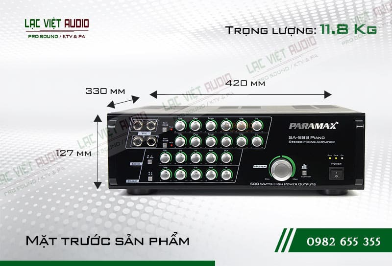 Đặc điểm Amply Paramax SA-999 PIANO NEW