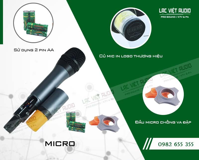Thiết kế hiện đại bên ngoài của thiết bịMicro BBS S 130GS