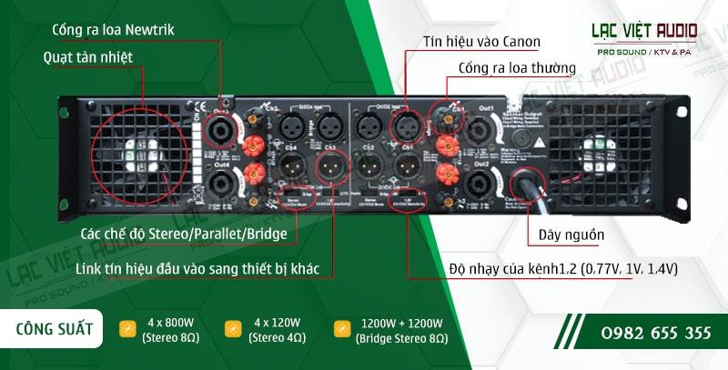 Thiết kế bên ngoài của sản phẩmCục đẩy công suất BCE C8800