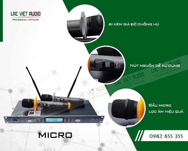 Thiết kế bên ngoài của sản phẩmMicro BF Audio J8
