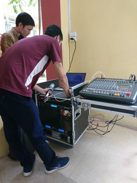 Dự án lắp dàn loa hội trường cho trường THCS Hà Huy Tập