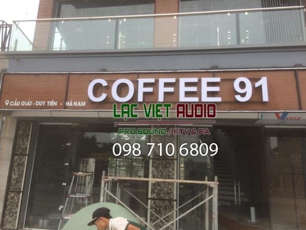 Quán cafe của anh Bá đã hoàn tất và đang đi vào sử dụng