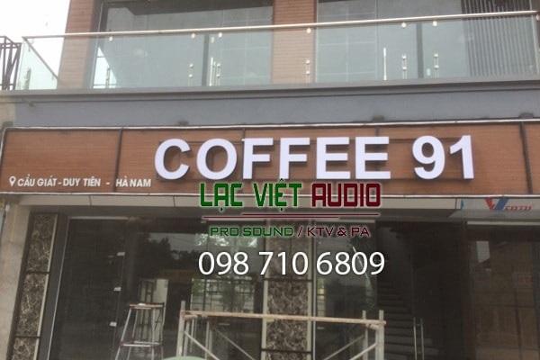 Dàn âm thanh quán cafe tại Hà Nam
