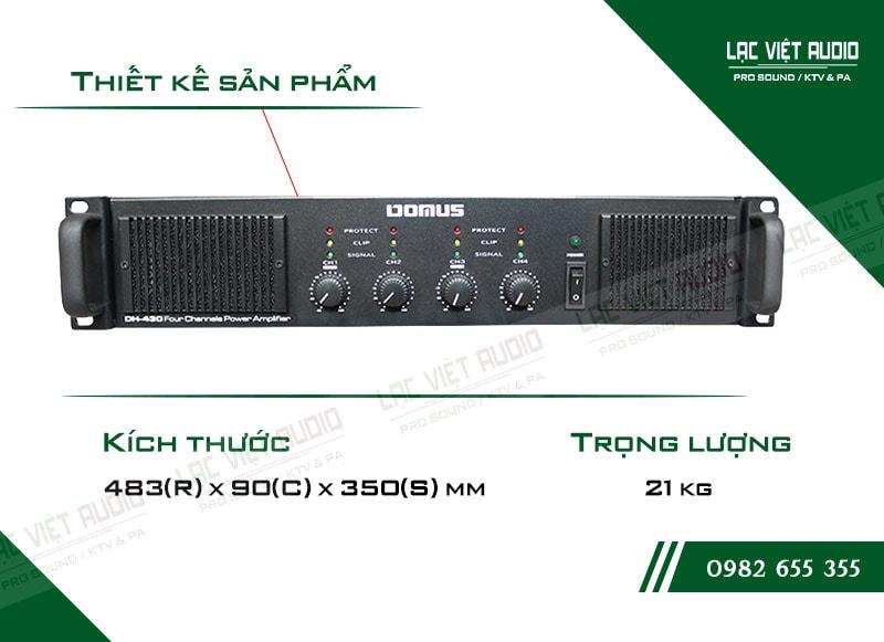Thiết kế bên ngoài của sản phẩmCục đẩy công suất Domus DH 430