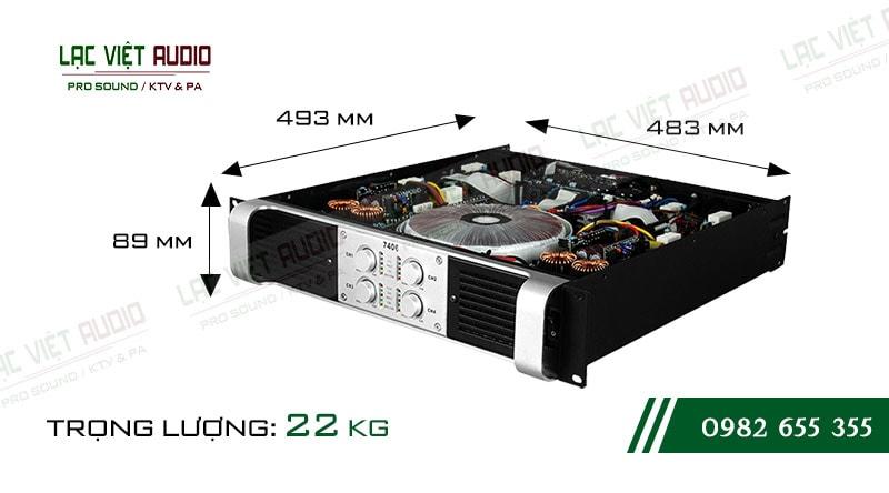Thiết kế bên ngoài cực hiện đại của thiết bị Cục đẩy công suất Famousound 7406