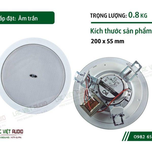 Thiết kế bên ngoài sang trọng và tinh tế của sản phẩmLoa gắn trần ITC T105