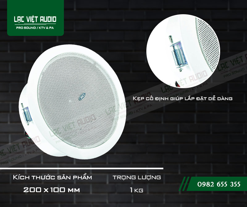 Thiết kế bên ngoài của sản phẩm Loa gắn trần ITC T105M