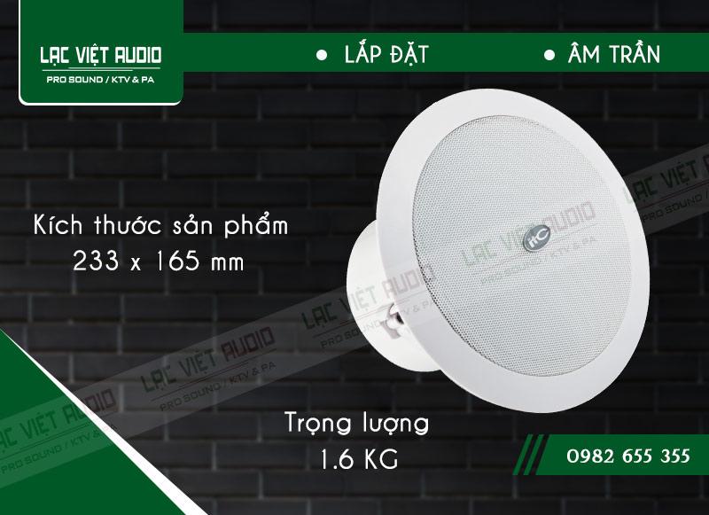 Thiết kế bên ngoài sang trọng và tinh tế của sản phẩmLoa gắn trần ITC T206CW