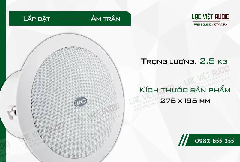 Thiết kế bên ngoài sang trọng và tinh tế của sản phẩmLoa gắn trần ITC T208CW