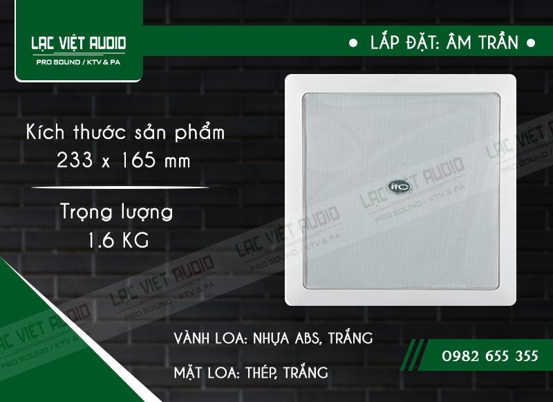 Thiết kế bên ngoài sang trọng và tinh tế của sản phẩmLoa gắn trần ITC T562
