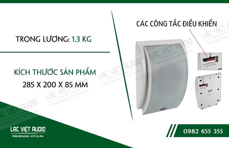 Các thiết kế bên ngoài của sản phẩmLoa gắn tường ITC T611