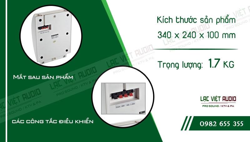 Các thiết kế bên ngoài của sản phẩmLoa gắn tường ITC T612