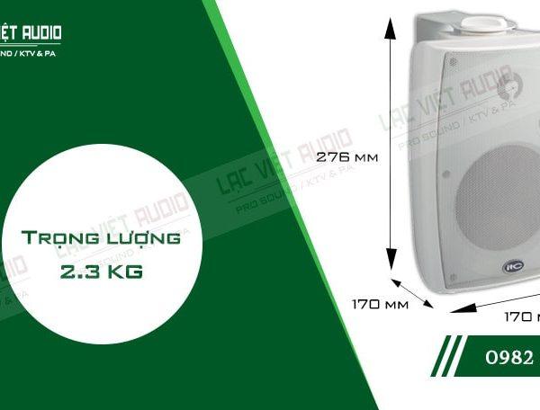 Thiết kế bên ngoài hiện đại và sang trọng của thiết bịLoa gắn tường ITC T774HW