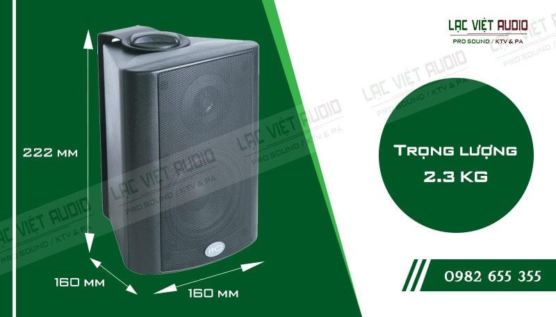 Thiết kế bên ngoài hiện đại và sang trọng của thiết bịLoa gắn tường ITC T774P
