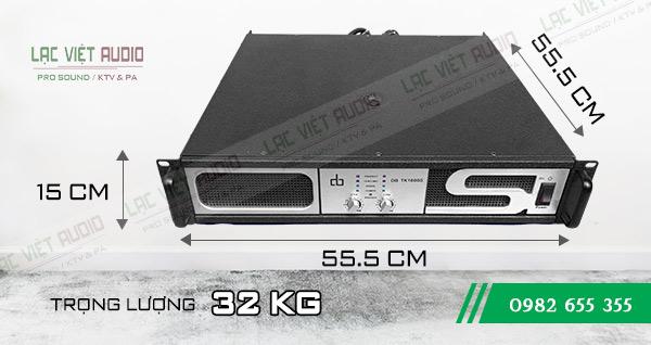 Kích thước và trọng lượng Cục đẩy DB TK-1600S