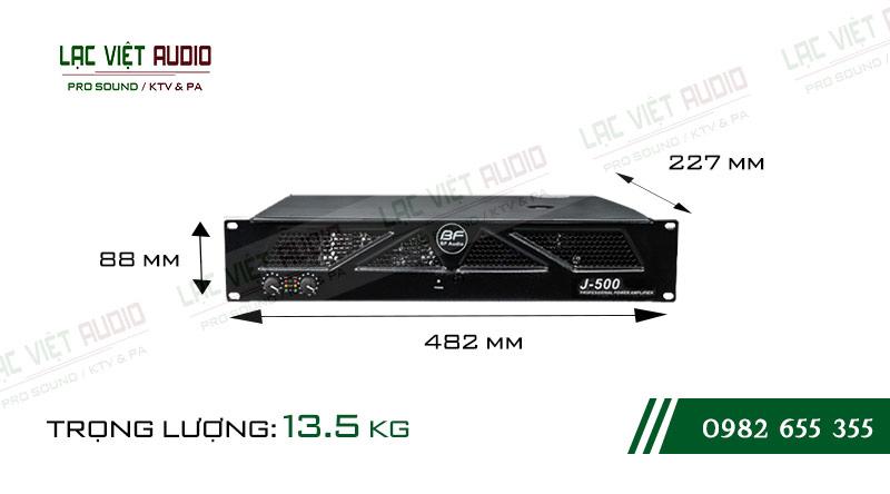 Kích thước cục đẩy công suất BF Audio J500