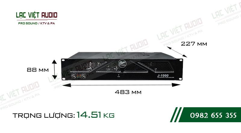 Kích thước cục đẩy công suất BF Audio J1000