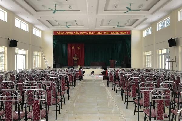 Lắp đặt âm thanh hội trường xã Hồng Kỳ