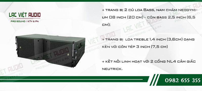 Các tính năng độc đáo của sản phẩm Loa Array Agasound Aline 208