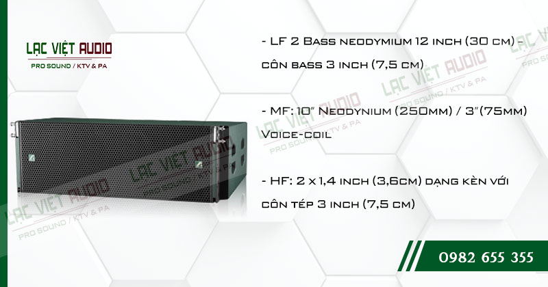 Các tính năng độc đáo của sản phẩm Loa Array Agasound Aline 212