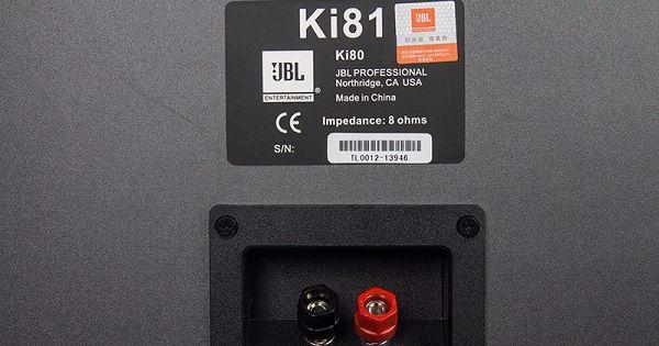Mặt sau loa JBL KI81 nhập khẩu nguyên chiếc