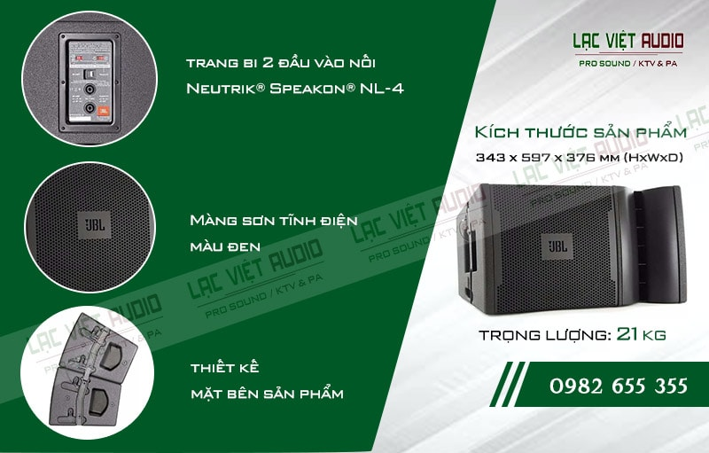 Thiết kế bên ngoài của sản phẩm Loa array QHA VRX932