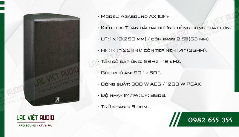 Tính năng nổi bật của sản phẩm Loa karaoke Agasound AX 10F+