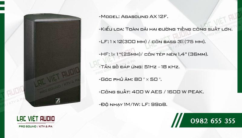 Tính năng nổi bật của sản phẩm Loa karaoke Agasound AX 12F