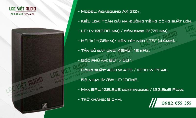 Tính năng nổi bật của sản phẩm Loa karaoke Agasound AX 212+