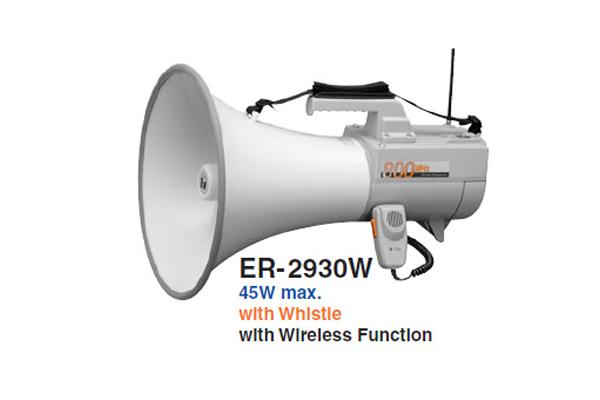 Loa phát thanh đeo vai 30W có còi hụ TOA ER-2930W