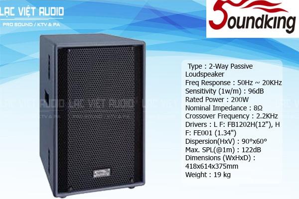 Tính năng sản phẩm Loa soundking F212
