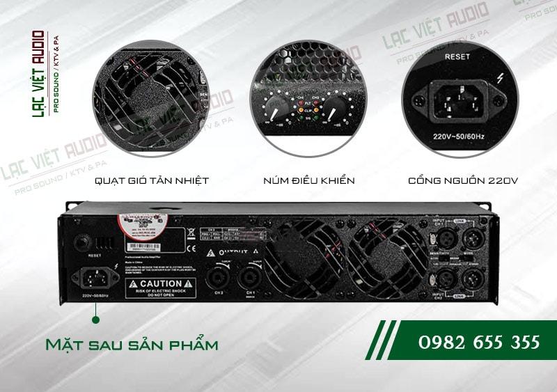 Mặt sau cục đẩy công suất BF Audio J500
