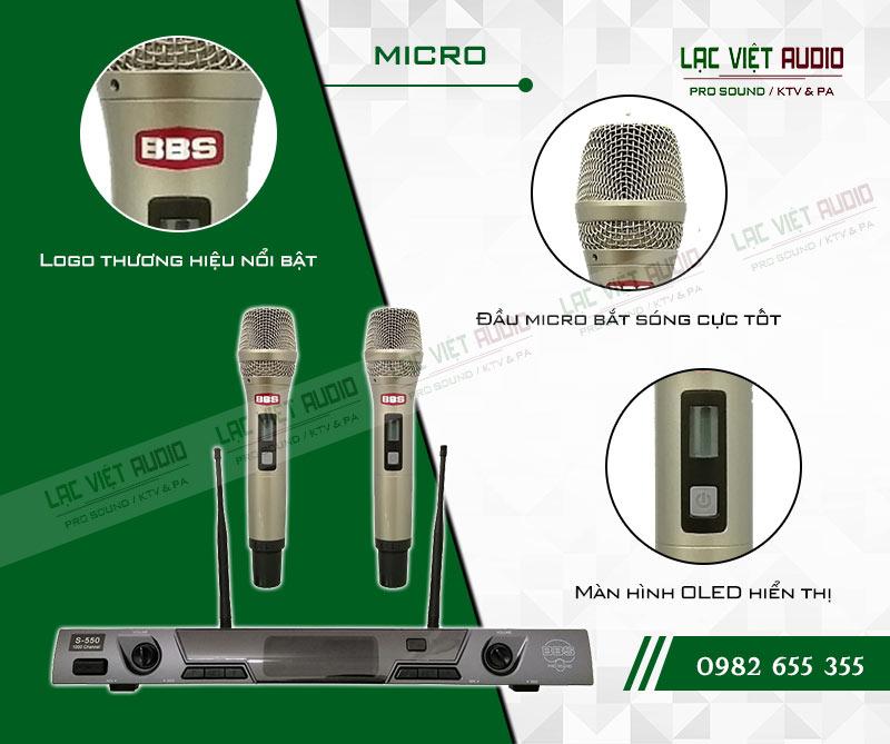 Tính năng độc đáo và nổi bật của sản phẩmMicro không dây BBS E550GS