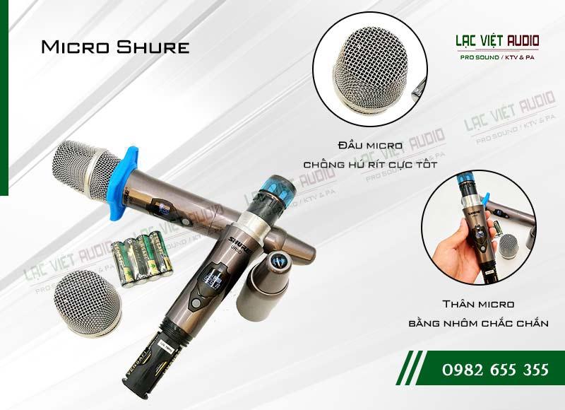 Thiết kế bên ngoài của sản phẩmMicro shure UR9D