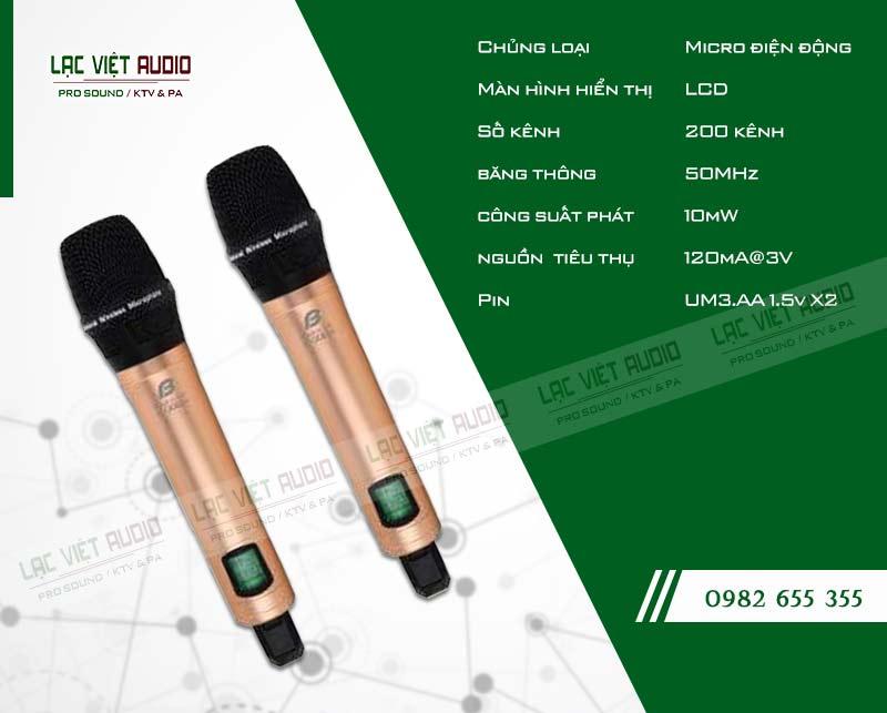 Thiết kế bên ngoài của sản phẩmMicro BFaudio K308D+